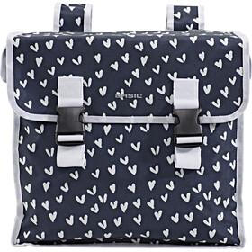 Basil Mara XL Luggage Carrier Double Bag L heart dots